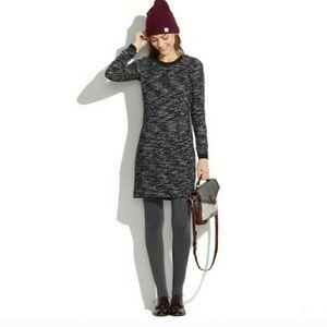 Madewell Marled Contrast Sweater Dress
